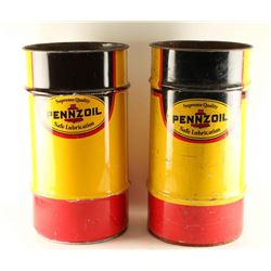 Lot of 2 Pennzoil Barrels
