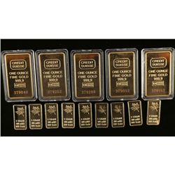 Lot of Gold Clad Bars