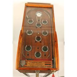 Antique Horseshoe Pinball Game