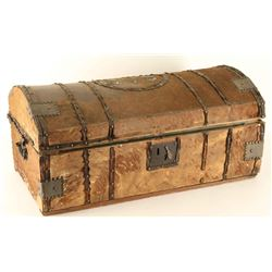 Cowhide Wrapped Trunk