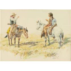 Original Watercolor on Paper by Frank Hagel