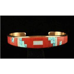 14K Gold Zuni Cuff Bracelet