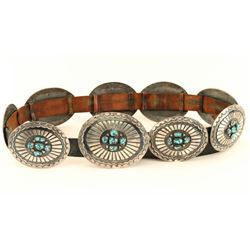 Lone Mountain Turquoise Concho Belt