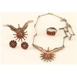 Zuni Coral Set