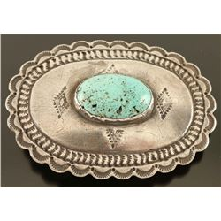 Navajo Turquoise & Sterling Buckle