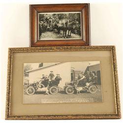 Lot of 2 Vintage Black & White Photos