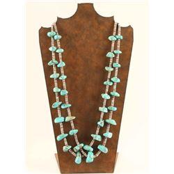 Sleeping Beauty Turquoise & Heishi Necklace