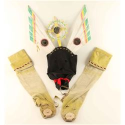Apache Gan Mask and Moccasins