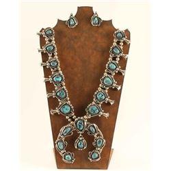 Large Nevada Turquoise Squash & Earrings