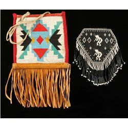 Lot of 2 Beaded Bags