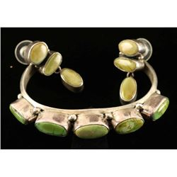 Green Turquoise Bracelet & Earring Set
