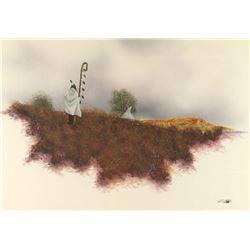 Original Acrylic on Paper by Robert Redbird
