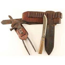 Cartridge Belt, knife, Fencing Tool
