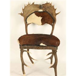 Authentic Antique Horn & Hide Covered Chair
