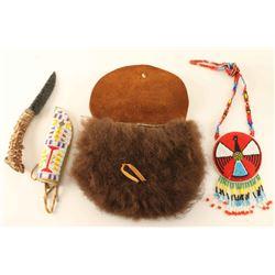 Buffalo Purse with Beaded Items