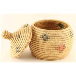 Eskimo Hand Woven Lidded Basket