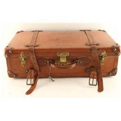 Visalia Leather Suitcase