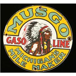 Vintage Musgo Gasoline Michigan Mile