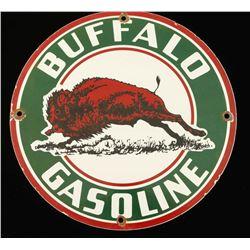 Vintage Buffalo Gasoline Porcelain Advertising