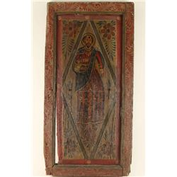 Mexican Wood Panel with Icon
