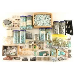 Large lot of Turquoise, Agate, Geodes.