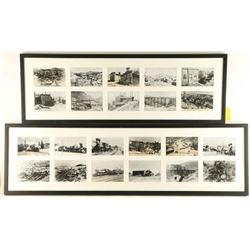 Collection of Framed Black & White Mining Photos