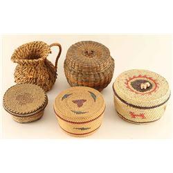 Lot of 5 Native Baskets