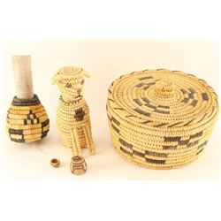 Lot of 4 Basketry Items