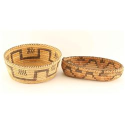 Lot of 2 Pima Baskets