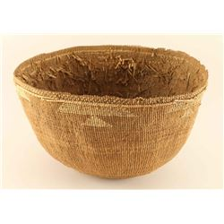 Antique Hupa Tribe Basket Bowl