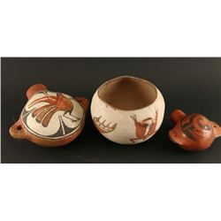 Lot of 3 Native American Pottery Items