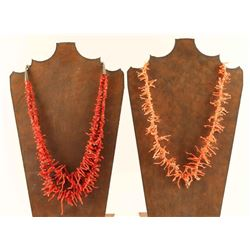 Lot of 2 Branch Coral Necklaces