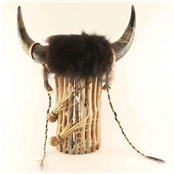 Buffalo Headdress on Saguaro Wood
