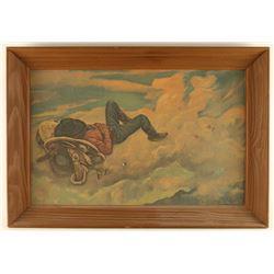 A-1 Beer Advertiser Cowboy's Dream Print