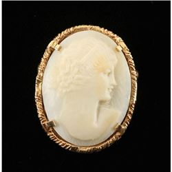 Victorian Cameo Carved Brooch
