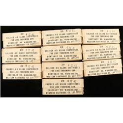 Lot of 10 Blank 45 Cal Cartridges