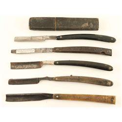 Lot of 5 Antique Straight Razors