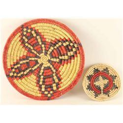 2 San Juan Piaute Basketry Trays