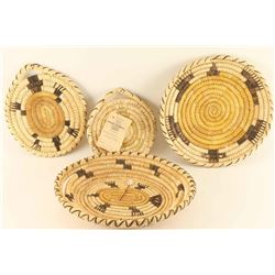 Lot of 4 Papago Basketry Trays