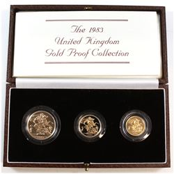 Royal Mint 1983 Limited Edition Gold Proof Collection. You will receive the Two Pound, Sovereign, an