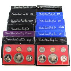 Group Lot of 1970-1992 United States Proof Sets. You will receive 1970, 3x 1971, 2x 1975, 1976, 3x 1