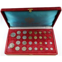1963 Royal Thai Mint Commemorative Coin Set. This set contains 30 coins housed in the original red d