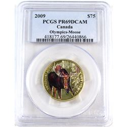 2009 Canada $75 Olympic - Moose PCGS Certified PR-69 Deep Cameo.