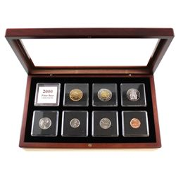 2000W Canada Proof Like 7-coin Set in Presentation Case. Coins come encapsulated in a flocked liked