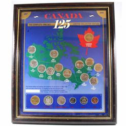 1992 Canada 125th Limited Collector Edition 19-coin set in Frame. Numbered 231/5000.