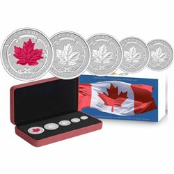 2015 Canada The Maple Leaf Fine Silver 5-coin Fractional Set (Tax Exempt)