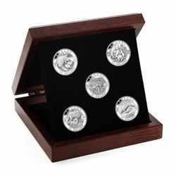 2013 Canada $25 Complete O Canada 5-Coin Fine Silver Set with Deluxe Display Case (Tax Exempt). The