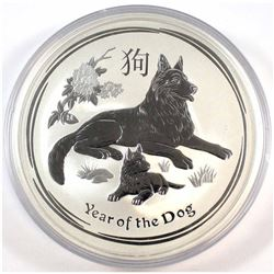 2018 Australia $10 Year of the Dog 10oz Fine Silver Coin (Tax Exempt). Please note capsules has ligh