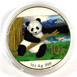 2014 10Y China 1oz Fine Silver Coloured Panda (Tax Exempt)