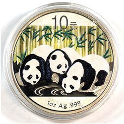2013 10Y China 1oz Fine Silver Coloured Panda (Tax Exempt)